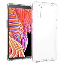 Kieto silikono (TPU) dėklas - skaidrus (Galaxy Xcover 5)