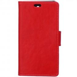 Atverčiamas odinis dėklas - raudonas (Galaxy Xcover 3)