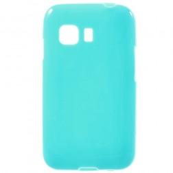 Kieto silikono (TPU) dėklas - šviesiai mėlynas (Galaxy Young 2)