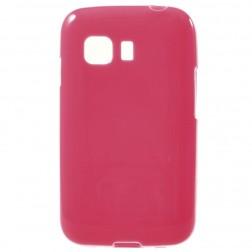 Kieto silikono (TPU) dėklas - tamsiai rožinis (Galaxy Young 2)