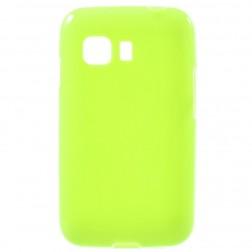 Kieto silikono (TPU) dėklas - žalias (Galaxy Young 2)