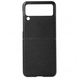 """Deluxe Leather"" dėklas - juodas (Galaxy Z Flip3)"
