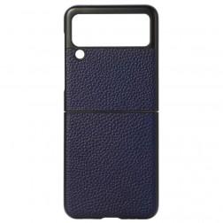 """Deluxe Leather"" dėklas - mėlynas (Galaxy Z Flip3)"