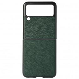 """""""Deluxe Leather"""" dėklas - žalias (Galaxy Z Flip3)"""