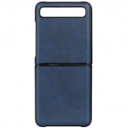 """Slim Leather"" dėklas - mėlynas (Galaxy Z Flip)"
