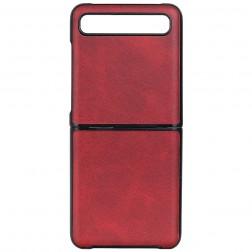 """""""Slim Leather"""" dėklas - raudonas (Galaxy Z Flip)"""