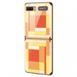 """""""GKK"""" Pattern plastikinis dėklas - geltonas (Galaxy Z Flip)"""