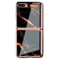 """""""GKK"""" Marble plastikinis dėklas - juodas (Galaxy Z Flip)"""
