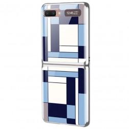 """""""GKK"""" Pattern plastikinis dėklas - mėlynas (Galaxy Z Flip)"""