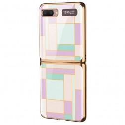 """""""GKK"""" Pattern plastikinis dėklas - violetinis (Galaxy Z Flip)"""
