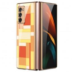 """""""GKK"""" Pattern plastikinis dėklas - geltonas (Galaxy Z Fold2)"""