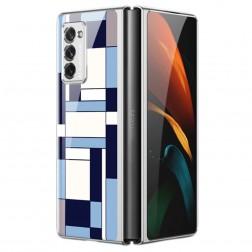 """""""GKK"""" Pattern plastikinis dėklas - mėlynas (Galaxy Z Fold2)"""