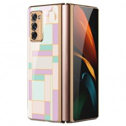 """""""GKK"""" Pattern plastikinis dėklas - violetinis (Galaxy Z Fold2)"""