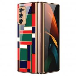 """""""GKK"""" Pattern plastikinis dėklas - žalias (Galaxy Z Fold2)"""