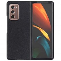 """Foldable Leather"" dėklas - juodas (Galaxy Z Fold2)"