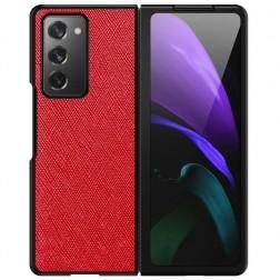 """""""Foldable Leather"""" dėklas - raudonas (Galaxy Z Fold2)"""