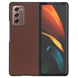 """Foldable Leather"" dėklas - rudas (Galaxy Z Fold2)"
