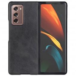 """""""Slim Leather"""" dėklas - juodas (Galaxy Z Fold2)"""