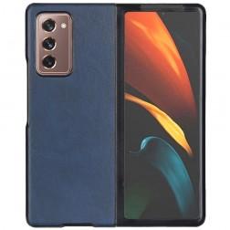 """""""Slim Leather"""" dėklas - mėlynas (Galaxy Z Fold2)"""