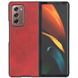 """""""Slim Leather"""" dėklas - raudonas (Galaxy Z Fold2)"""