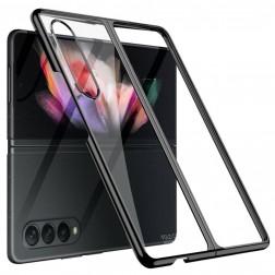 """""""GKK"""" plastikinis skaidrus dėklas - juodas (Galaxy Z Fold3)"""