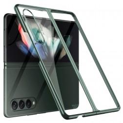 """""""GKK"""" plastikinis skaidrus dėklas - žalias (Galaxy Z Fold3)"""