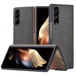 """Bi-Color"" Splicing dėklas - juodas (Galaxy Z Fold3)"