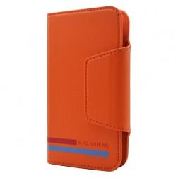 """""""Kalaideng"""" Versal atverčiamas dėklas - oranžinis (4.3"""" - 4.8"""" telefonams)"""