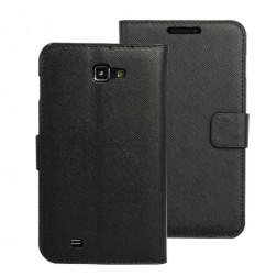 Atverčiamas odinis dėklas - juodas (Galaxy Note)