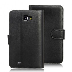 Klasikinis, knygutės tipo atverčiamas dėklas - juodas (Galaxy Note)