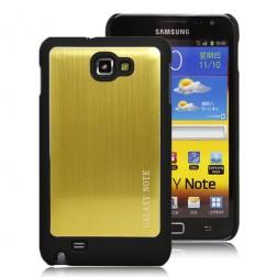 Šlifuoto metalo dėklas - auksinis (Galaxy Note)