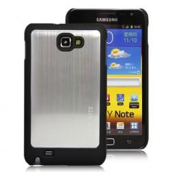 Šlifuoto metalo dėklas - sidabrinis (Galaxy Note)