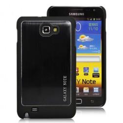 Šlifuoto metalo dėklas - juodas (Galaxy Note)