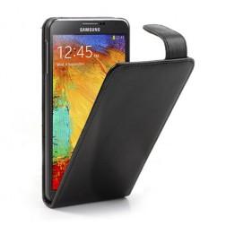 Klasikinis atverčiamas dėklas - juodas (Galaxy Note 3)