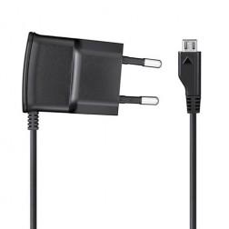 """""""Samsung"""" sieninis įkroviklis su micro USB laidu - juodas (0.7 A)"""