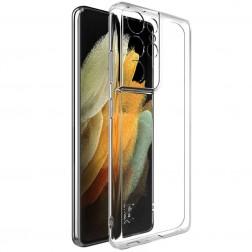 """""""Imak"""" kieto silikono (TPU) dėklas - skaidrus (Galaxy S21 Ultra)"""