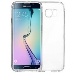 Kieto silikono (TPU) dėklas - skaidrus (Galaxy S6 Edge)