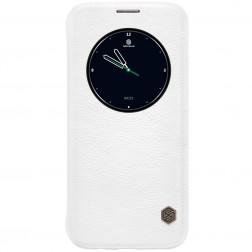 """""""Nillkin"""" Qin atverčiamas dėklas - baltas (Galaxy S7 Edge)"""