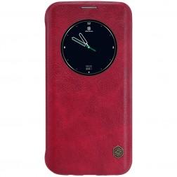 """""""Nillkin"""" Qin atverčiamas dėklas - raudonas (Galaxy S7 Edge)"""