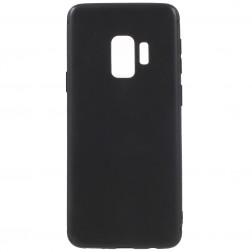Kieto silikono (TPU) dėklas - juodas (Galaxy S9)