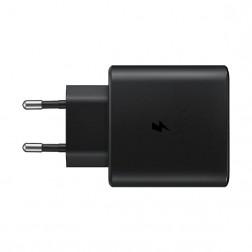 """""""Samsung"""" Super Fast Charging 2.0 sieninis įkroviklis (45W) - juodas  + USB Type-C laidas"""