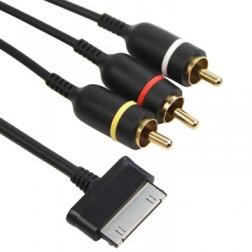 AV laidas - juodas (30-pin, Samsung)