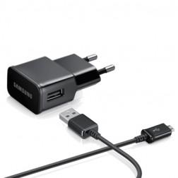 """""""Samsung"""" sieninis įkroviklis (2 A) - juodas + micro USB laidas"""