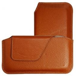 Stilinga odinė įmautė - ruda (XS)