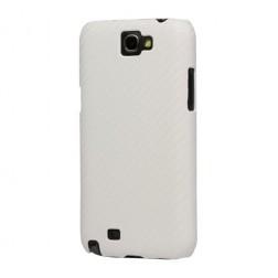 """""""Karboninis"""" dėklas - baltas (Galaxy Note 2)"""