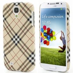 """""""Burberry"""" stiliaus dėklas - šviesiai rudas (Galaxy S4)"""