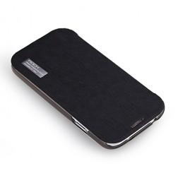 """""""ROCK"""" Elegant atverčiamas dėklas - juodas (Galaxy S4)"""