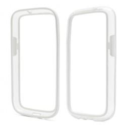 """""""RoSH"""" rėmelis - skaidrus, baltas (Galaxy S4)"""
