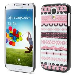Raštuotas dėklas - rožinis (Galaxy S4)