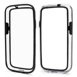"""""""RoSH"""" rėmelis - skaidrus, juodas (Galaxy S4)"""
